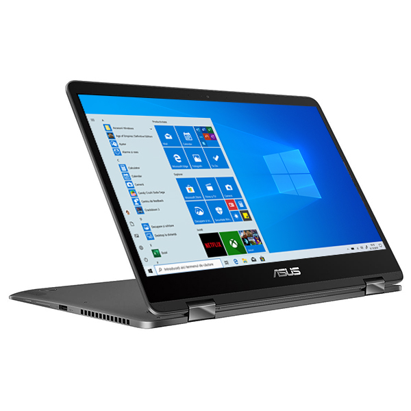 "Laptop 2 in 1 ASUS ZenBook Flip 14 UX461FA-E1041R, Intel Core i7-8565U pana la 4.6GHz, 14"" Full HD, 8GB, SSD 512GB, Intel UHD Graphics 620, Windows 10 Pro, Slate Grey"