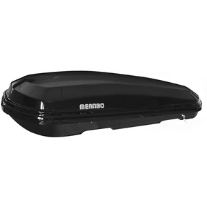 Cutie portbagaj MENABO Diamond 450 Black, 450l, negru lucios