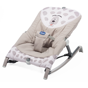 Balansoar pliabil CHICCO Pocket Relax Sweet Dog, 0 luni +, bej - gri deschis
