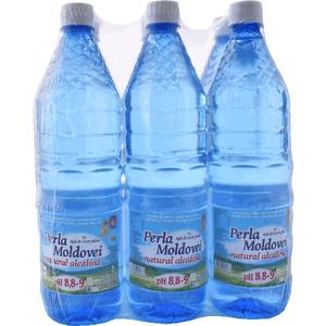 Apa plata alcalina PERLA MOLDOVEI bax 1L x 6 sticle