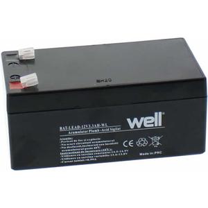 Acumulator plumb acid  WELL BAT-LEAD-12V3.3AH-WL, 12V, 3.2 Ah