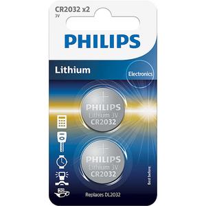 Baterii litiu PHILIPS CR2032P2/01B, 2 bucati