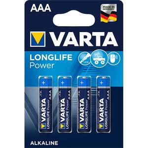 Baterii alcaline AAA VARTA Longlife Power, 4 bucati