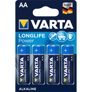 Baterii alcaline AA VARTA Longlife Power, 4 bucati