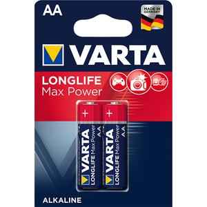 Baterii alcaline AA VARTA Longlife Max Power, 2 bucati