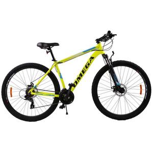 """Bicicleta Mountain Bike OMEGA Thomas, 29"""", galben"""