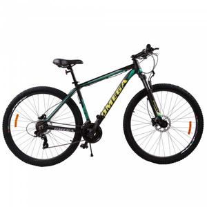 "Bicicleta Mountain Bike OMEGA Duke, 29"", negru-verde-galben"