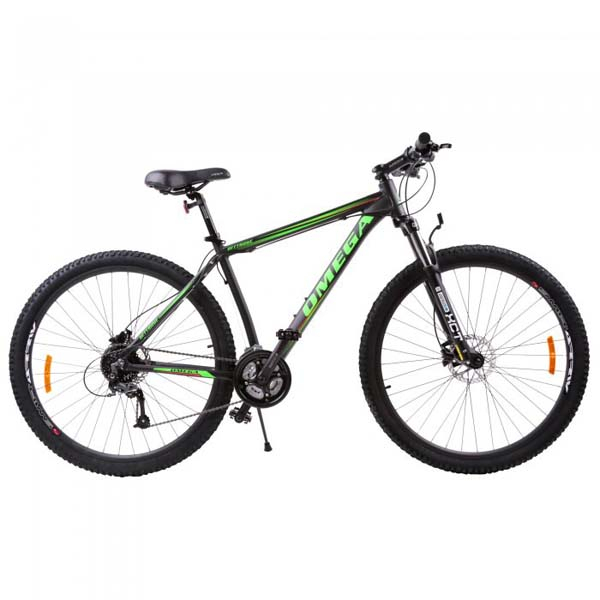 "Bicicleta Mountain Bike OMEGA Bettridge, 29"", negru-verde 2019"