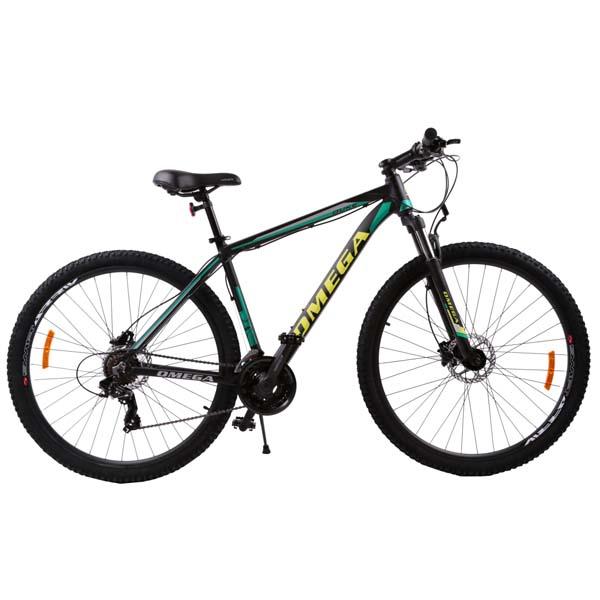 "Bicicleta Mountain Bike OMEGA Duke, 27.5"", negru-verde-galben"
