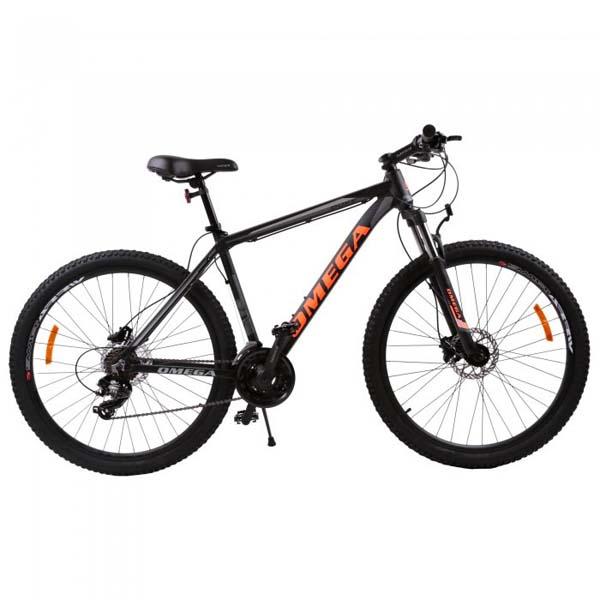 "Bicicleta Mountain Bike OMEGA Duke, 29"", negru-rosu-albastru"