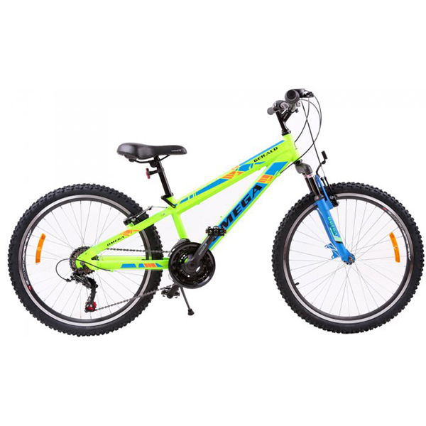 "Bicicleta de copii Mountain Bike OMEGA Gerald, 24"", verde"