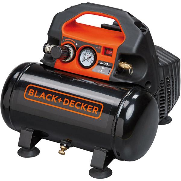 Compresor BLACK & DECKER BD 55/6, Electric, fara ulei, 6 litri, 1.5 CP, 8 Bar