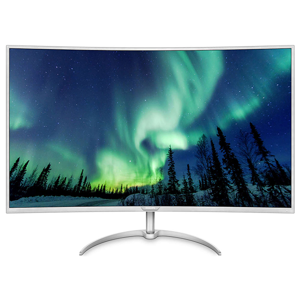 "Monitor curbat LED VA PHILIPS BDM4037UW/00, 40"", 4K Ultra HD, 60Hz, MultiView, argintiu-alb"