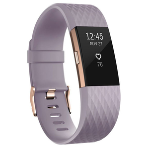 Bratara Fitness FITBIT Charge 2 FB407RGLVL-EU, Large, Android/iOS, Lavender Rose Gold