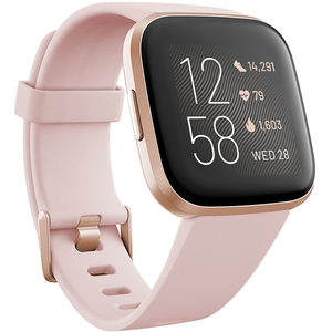 Smartwatch FITBIT Versa 2, Android/iOS, silicon, Petal / Copper Rose Aluminum