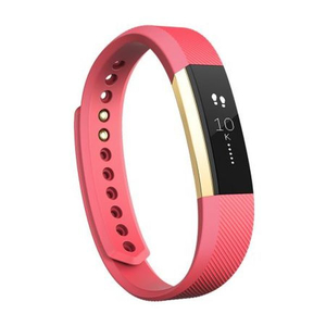 Bratara Fitness FITBIT Alta, Small, Android, iOS, Gold Pink
