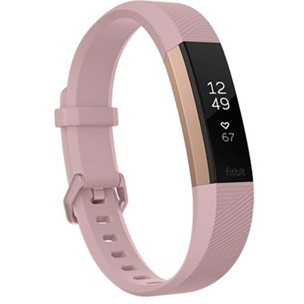 Bratara Fitness FITBIT Alta HR, Large, Pink Gold