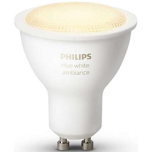 Bec LED Spot PHILIPS Hue AMBIANCE 5.5W ( 25W), GU10, Nuante de alb