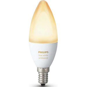 Bec LED PHILIPS Hue Ambiance B39 6W (40W), E14, Nuante de alb