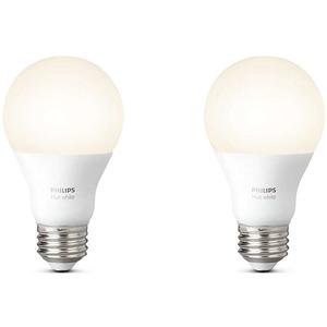 Pachet 2 becuri LED PHILIPS Hue A60, 9W (60W), E27, Lumina alba calda