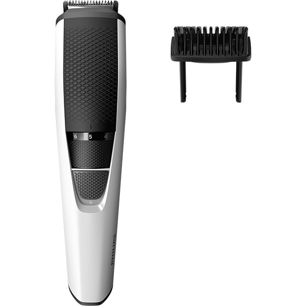 Aparat de tuns barba PHILIPS BT3206/14, acumulator, 45 min autonomie, alb