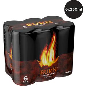 Bautura energizanta BURN bax 0.25L x 6 cutii