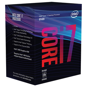 Procesor Intel® Core™ i7-8700, 3.2GHz/4.6GHz, 12MB, BX80684I78700