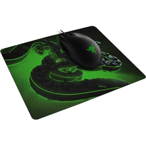 Bundle Gaming RAZER mouse Abyssus Lite + mouse pad Goliathus, negru