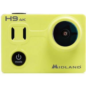 Camera video sport MIDLAND H9, Ultra HD 4K, negru-galben