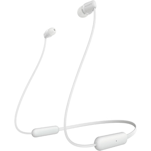 Casti SONY WIC200, Bluetooth, In-Ear, Microfon, alb