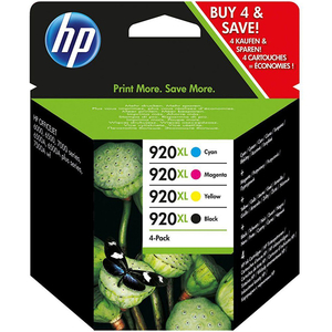 Pachet cu 4 cartuse de cerneala HP 920XL C2N92AE, negru/color
