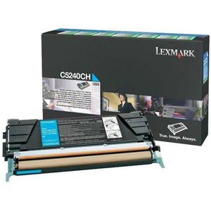 Toner LEXMARK XL C5240CH CTG C524 Return Program, cyan