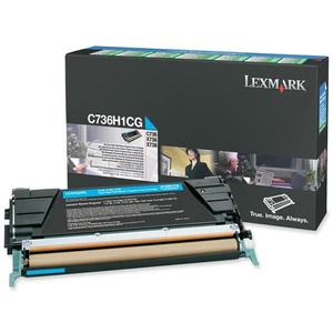 Toner LEXMARK XL C736H1CG Return Program, cyan