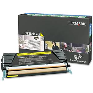 Toner LEXMARK XL C736H1YG Return Program, galben