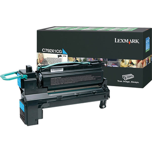 Toner LEXMARK XXL C792X1CG C792 Return Program, cyan