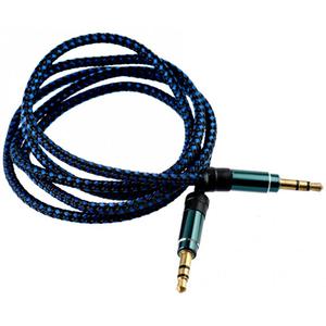 Cablu audio TELLUR TLL311041, Jack 3.5mm, 1m, Albastru