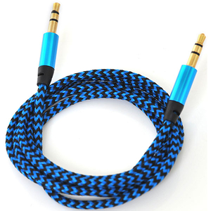 Cablu audio MYRIA MY9037BL, Jack 3.5mm, 1m, albastru