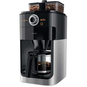 Cafetiera PHILIPS Grind & Brew HD7769/00, 1.2l, 1000W, negru - argintiu