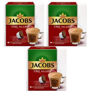 Set 3 x Capsule cafea JACOBS Cafe Au Lait compatibilitate cu Nescafe Dolce Gusto, 42 capsule, 420g