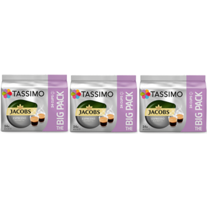 Set 3 x Capsule cafea JACOBS Tassimo Espresso Ristretto, 72 capsule, 576g