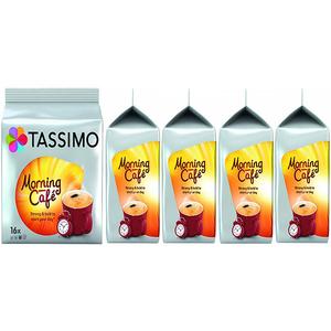 Set 5 x Capsule cafea JACOBS Tassimo Morning Cafe, 80 capsule,  624g