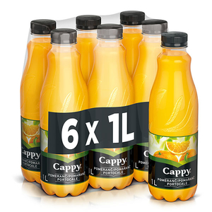 Nectar natural CAPPY Portocale bax 1L x 6 sticle
