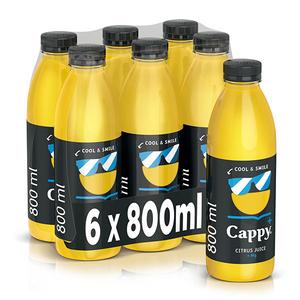 Bautura racoritoare necarbogazoasa CAPPY PLS COOL SML CITRICE bax 0.8L x 6 sticle