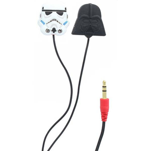 Casti Darth Vader Star Wars 157505, Cu Fir, In-Ear, negru/alb