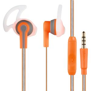 Casti HAMA Reflective 177018, Cu Fir, In-Ear, Microfon, portocaliu