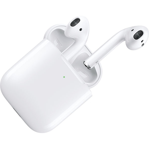 Casti APPLE AirPods 2 MRXJ2ZM/A, True Wireless Bluetooth, In-Ear, Microfon, cu incarcare wireless, alb