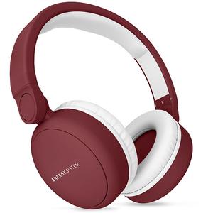 Casti ENERGY SISTEM Headphones 2, ENS445790, Bluetooth, On-Ear, Microfon, rosu