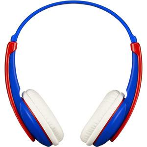 Casti pentru copii JVC Tinyphone HA-KD9BT-A-E, Bluetooth, On-Ear, albastru-rosu