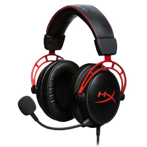 Casti Gaming HyperX Cloud Alpha, surround, multiplatforma, 3.5mm, negru-rosu