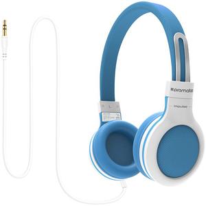 Casti pentru copii PROMATE Impulse, Cu Fir, On-Ear, albastru